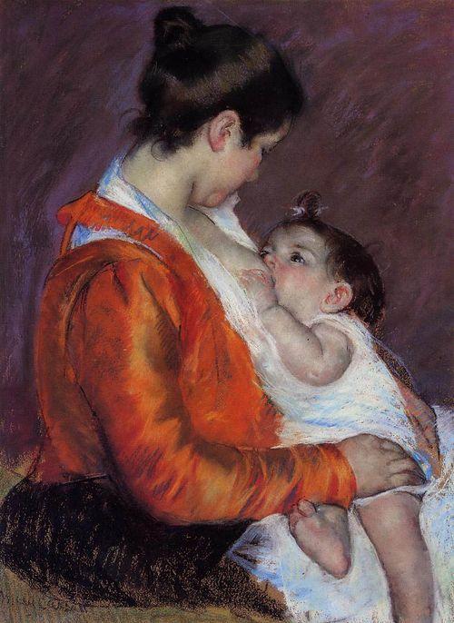 Marycassat_breastfeedingherchild
