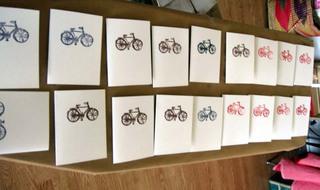 Bikecardsdrying