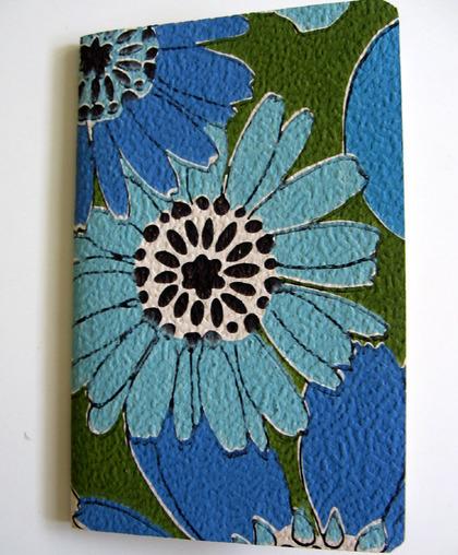 Blueflowersmoleskin